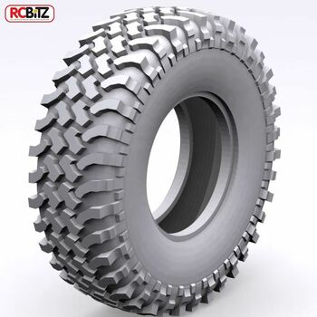 "Mud Thrashers 1.9"" Scale Tires RC4WD w/ Foams CLASS 1 Nice scale tread Z-T0051"