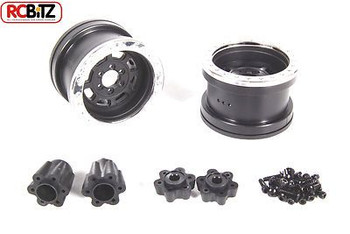 Axial 2.2 Trail Ready HD Series Beadlock w/Slim Ring IFD Wheels BLACK CHROME