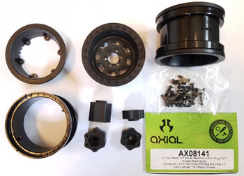 Axial 2.2 Trail Ready HD Series Beadlock w/Slim Ring IFD Wheels BLACK AX08141