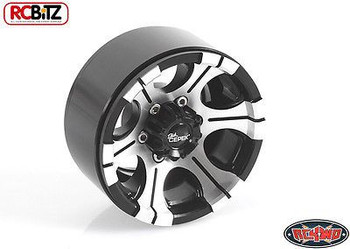"Dick Cepek DC-2 1.9"" Internal Beadlock Wheels Centre Hub Logo Hex Z-W0080 RC4WD"