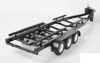 BigDog 1/10 Triple Axle Scale Boat METAL Trailer Z-H0011 Lights RC4WD TOY Ramps