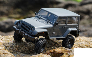 RC4WD 1/18 Gelande II RTR w/ Black Rock Body Set Z-RTR0037 Grey Jeep 18th Batt