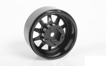 "OEM Stamped Steel 1.55"" Beadlock Wheels BLACK Z-W0262 RC4WD 12mm HEX TF2 G2"