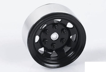 "Stamped Steel Single 1.55"" Stock Black Beadlock Wheel Z-Q0008 RC4WD Spare rcBits"