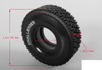 """Challenger 1.9"""" Single Scale Tire Z-P0040 RC4WD Spare Tyre Soft Class TWO"""