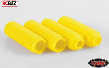 Super Scale Shock Boots YELLOW 4 RUBBER Absorber Covers ARB EMU RC4WD Z-S0962