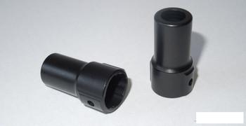 SSD Rear Axle Alli Lockouts for SCX10 & D60 Axle BLACK SSD00082 inc grub screws