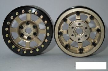 "SSD 1.9"" Assassin Beadlock Wheel BRONZE SSD00180 12mm Hex Vanquish SLW hubs GOLD"