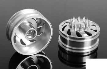 Force Directional Semi Front Wheels w/ Spiked Caps Z-W0053 RC4WD Tamiya Truck