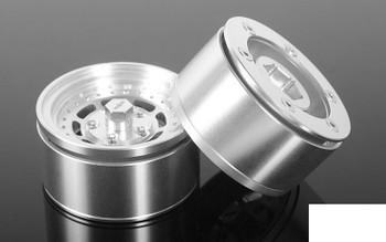 """Scamp 1.55"""" Beadlock Wheels Z-W0152 RC4WD Small 8 Spoke Dish TF2 G2 Scale"""