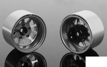 "Deep Dish Wagon 1.55"" Stamped Steel Beadlock Wheels CLEAR Z-W0286 RC4WD TF2"