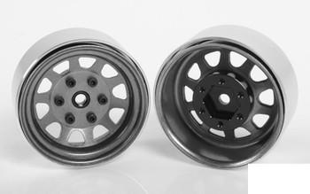 "Stamped Steel 1.7"" Beadlock Wagon Wheels CLEAR Z-W0272 RC4WD 6 lug Hex Mount"