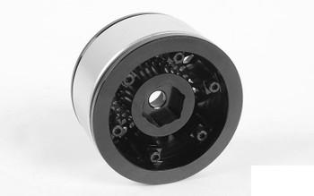 "Black Mesh 1.55"" Beadlock Wheels Z-W0103 RC4WD scale wheel G2 TF2 1.5"" rcBitz"