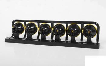 RC4WD KC HiLiTES KC Light Set Z-S1855 x6 Plastic YELLOW stone guard 3mm LED 17mm