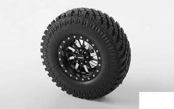 """RC4WD Enforcer 1.9"""" Beadlock Wheels Z-W0122 BLACK 16 spoke Amazing Details"""