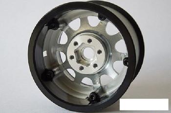 "SSD 2.2"" D Hole PL Beadlock Wheels SILVER SSD00154 Ally ProLine Tyre Delrin ring"