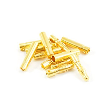 Etronix 4.0mm Gold Bullet Connectors (6 Pairs Male Female) ET0607 Connector RC