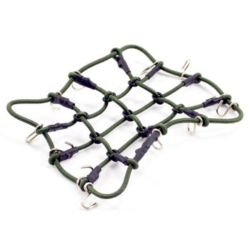 Fastrax Luggage Net w/ Hooks 130 X 110mm Unstretched FAST2311GR elastic GREEN