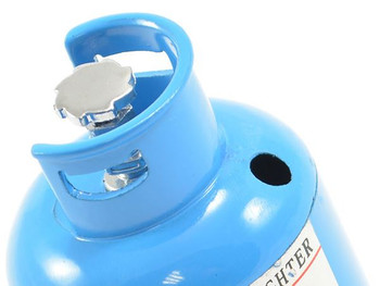 Fastrax Scale Painted Alloy Gas Bottle FAST2349B BLUE 60mm x 38mm dia