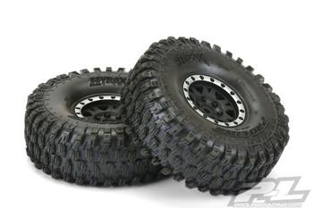 Proline Hyrax 1.9  G8 Tyres On Impulse Black Silver BeadLock Wheels PL10128-13