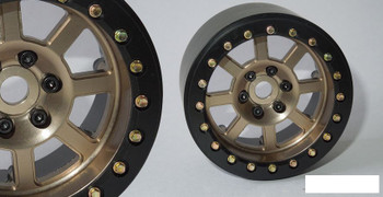 "SSD 2.2"" Wide Assassin Beadlock Wheels (Bronze) SSD00185 SLW Hubs CNC Alloy GOLD"