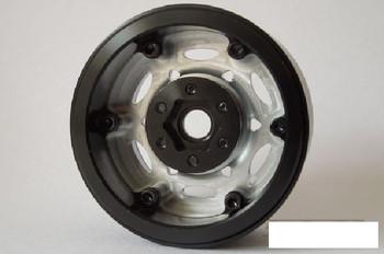"SSD 1.9"" Champion Beadlock Wheels SILVER BLACK ring SSD00246 6 Lug SLW Hex"