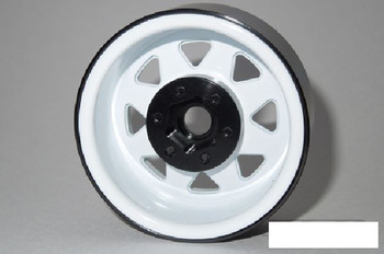 "SSD 1.9"" Steel 8 Spoke Beadlock Wheels WHITE SSD00251 TRX-4 wheel TRX4 Traxxas"