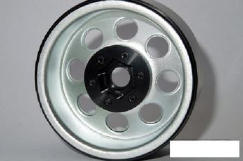 """SSD 1.9"""" Steel 8 Hole Beadlock Wheels SILVER SSD00266 Traxxas TRX-4 TRX4 SCX10II"""