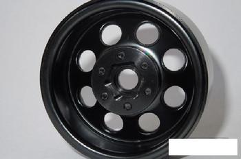 """SSD 1.9"""" Steel 8 Hole Beadlock Wheels BLACK SSD00268 Traxxas TRX-4 TRX4 SCX102"""