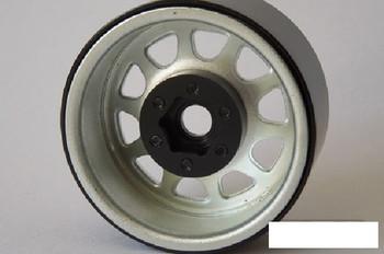 """SSD 1.9"""" Steel Stock Beadlock Wheels SILVER SSD00278 D Hole RC4WD D90 SSD-RC"""