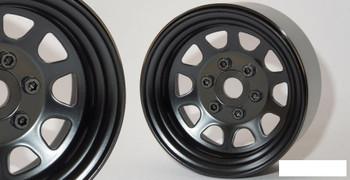 "SSD 1.9"" Steel Stock Beadlock Wheels BLACK SSD00280 D Hole RC4WD D90 SSD-RC"