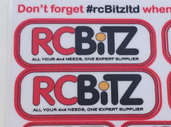 Scale RC Sticker Decal set rc Bitz rcBitzLtd Logo RCB0009 rcbitz.com rc Bitz Ltd #rcbitzltd