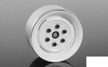 "Vintage Yota 6 Lug Stamped Steel 1.55"" Beadlock Wheels WHITE Z-W0288 RC4WD"