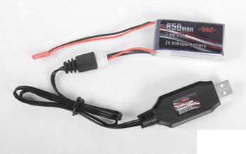 RC4WD 2s Lipo Balance Charger Z-E0111 USB 800mA 480mm cable XH-3Pin plug 18th
