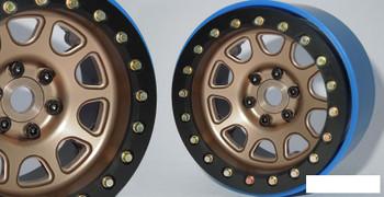 """SSD 2.2"""" D Hole PL Beadlock Wheels BRONZE GOLD SSD00305 ProLine 6 Bolt design"""