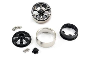 Fastrax 1.9  Heavy Duty 6-Spoke Alloy Beadlock Wheels (X2) FAST0144 Grey Hex