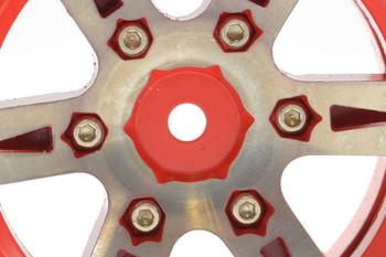 Fastrax 1.9  Heavyweight Split 6 Spoke Alloy Beadlock Wheels FAST0146R Red