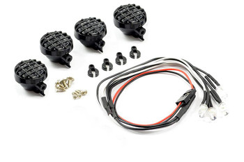 Fastrax Light Set w/ LED Lenses Wire Connector 4Pc Round FAST2341 Fog Spot RC