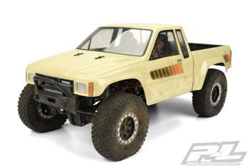 Proline 1985 Toyota Hilux SR5 CLEAR Body Cab + Bed SCX10 313mm WB PL3466-00
