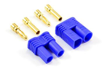 Etronix EC2 2mm Connectors (Pair Male Female) ET0619 EC 2 RC Blue Connector Plug