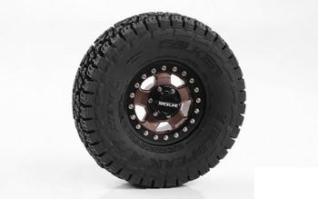 "RC4WD Raceline Combat 1.55"" Beadlock Wheels Z-W0292 inc centre hub cap wheel"