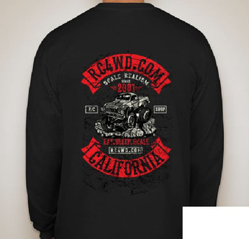 RC4WD Scale Long Sleeve Logo Shirt S Z-L0197 Small T-Shirt Color Screen Printed