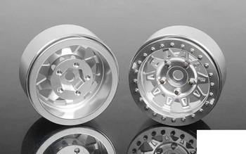 """RC4WD Dirty Life RoadKill 1.7"""" Beadlock Wheels SILVER Z-W0298 10 Spoke Wheel"""