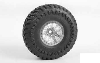 "RC4WD Dirty Life RoadKill 1.7"" Beadlock Wheels SILVER Z-W0298 10 Spoke Wheel"