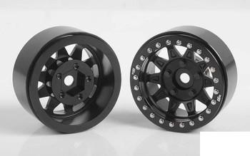 "RC4WD Dirty Life RoadKill 1.7"" Beadlock Wheels BLACK Z-W0299 10 Spoke Wheel"