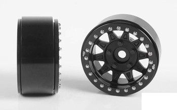 "RC4WD Dirty Life RoadKill 1.7"" Beadlock Wheels BLACK Z-W0299 10 Spoke Wheel"
