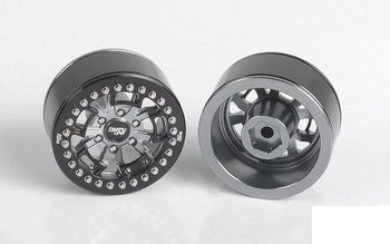 """RC4WD Dirty Life MB 1.9"""" Beadlock Wheels Z-W0306 Grey Scale bolts 12mm Hex RC"""