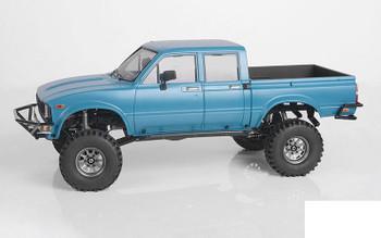 """OEM 6-Lug Stamped Steel 1.55"""" Beadlock Wheels PLAIN Z-W0308 RC4WD Grey TF2"""