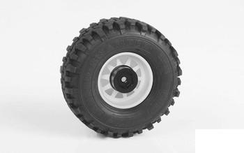 "OEM 6-Lug Stamped Steel 1.55"" Beadlock Wheels WHITE Z-W0309 RC4WD G2"