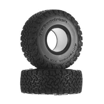 """1.9"""" BFgoodrich All-Terrain T/A KO2-R35 (2) AX31412 Axial tyres Beadlock SCX10II"""